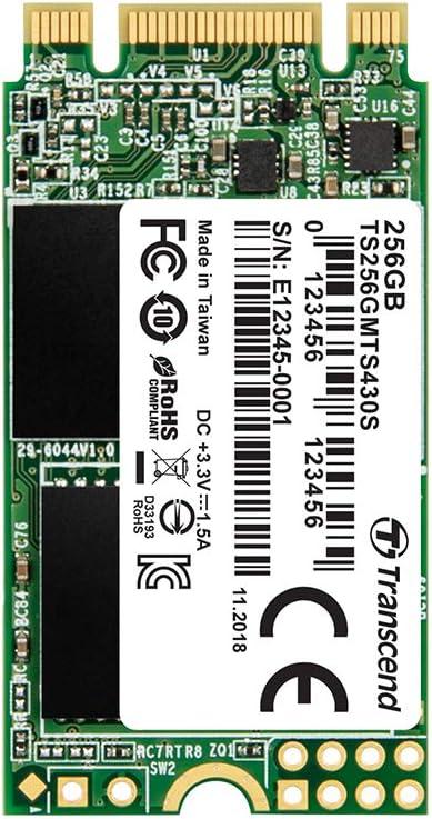 Transcend MTS430S – Disco Solido Interno de 256GB M.2 2242 SATA ...