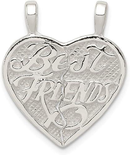 Sterling Silver Best Friends 2-piece break apart Heart Charm