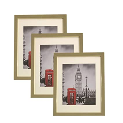 ed564b0e3e9 Amazon.com - Art Focus 3 Pack - 11x14 Collage Picture Frames with Multi  Colors - Display Photos 8x10 Mats 11x14 Without Mats (Silver) -