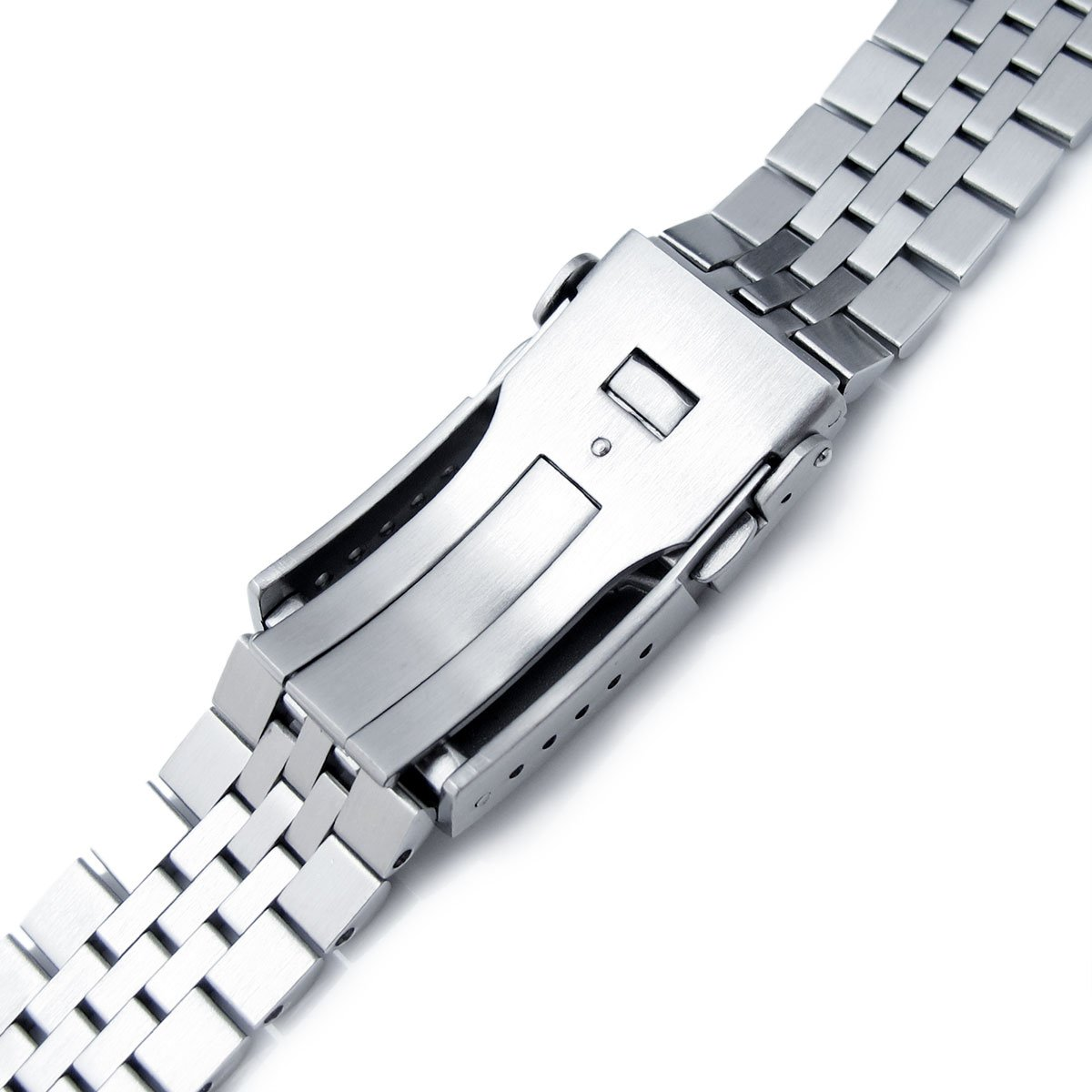 22mm Super 3D Jubilee Watch Bracelet for Seiko New Turtles SRP775, 2-Tone, Button Chamfer by Seiko Replacement by MiLTAT (Image #6)