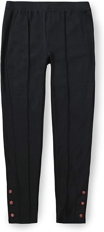 Hope & Henry Women's Button Cuff Ponte Legging Pant