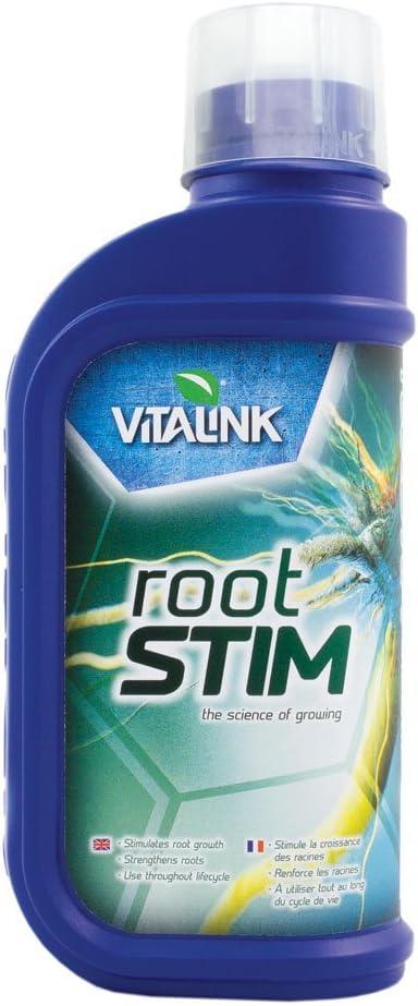 Fertilizante Estimulador Vitalink RootStim ALgas y Hormonas Estimulantes Abono Crecimiento para Cultivos de Cannabis y Marihuana - Mejora su Crecimiento y Floración. Aditivo. Producto CE. 1L