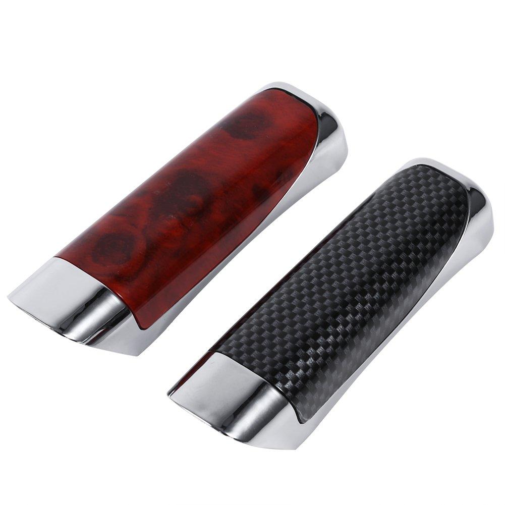 Black protezione della decorazione Copertura del freno a mano della copertura del freno a mano con gomma appiccicosa Copertura del freno a mano dellautomobile