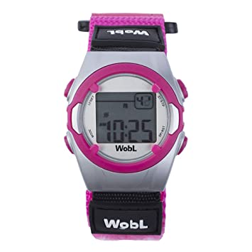 WobL - Pink Vibrating Reminder Watch 8 Alarms