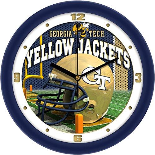 Georgia Tech Yellow Jackets Helmet - SunTime NCAA Georgia Tech Yellow Jackets Helmet Wall Clock