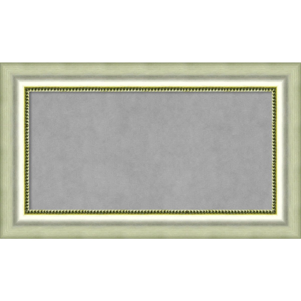 Outer Size 15 x 15 Parisian Silver Framed Magnetic Boards Amanti Art Small Square