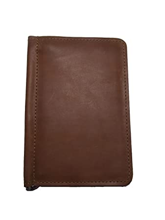 Full Grain Leather Golf Scorecard Yardage Book Holder Brown