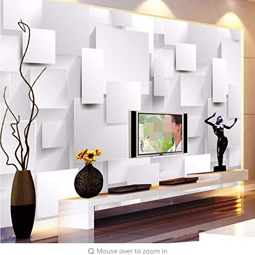 AtR Minimalista Moderno 3D Geometría estéreo Cubo Mural Papel de ...