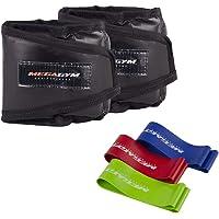 Kit Pilates E Fisioterapia 2 Caneleiras 10kg + 5 Mini Bands