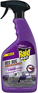 Raid Max Bed Bug Extended Protection, Kills Bed Bugs for 8 weeks on Laminated Woods and Surfaces, 22 Oz