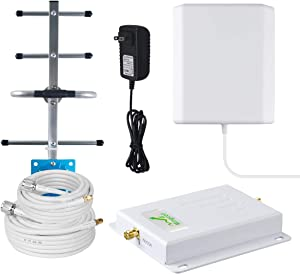 Verizon Cell Phone Signal Booster 4G LTE Verizon Signal Booster 700Mhz Band 13 Cell Phone Signal Amplifier Repeater for Home Use -Faster Data Speed
