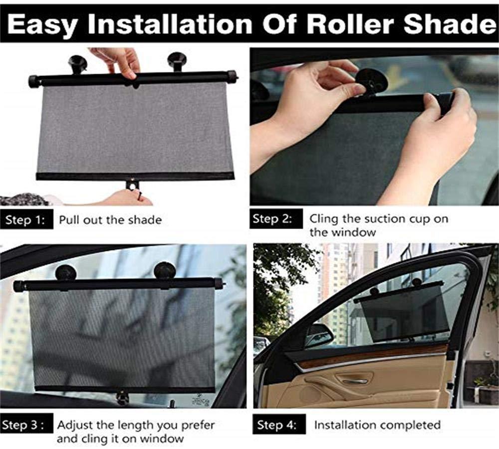 Fansport 2PCS Auto Fen/être Ombre De Voiture Fen/être Bouclier R/étractable UV Protection Ombre De Soleil pour Voiture Fen/être