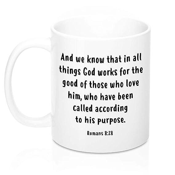 Mug à Café Chrétien Tasse Inspirational Romans 8 28