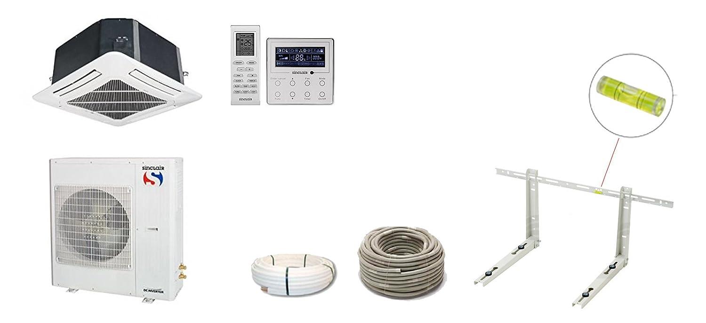 Split de aire acondicionado kasseten dispositivos Sinclair Uni de DC Inverter 7 KW (a + +/A +): Amazon.es: Bricolaje y herramientas