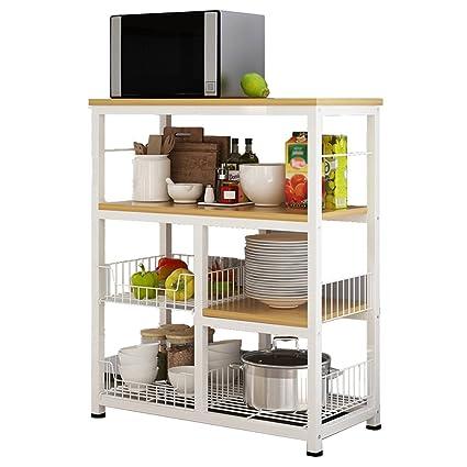 Amazon Com Kitchen Shelves Creative Floor Standing Microwave Oven