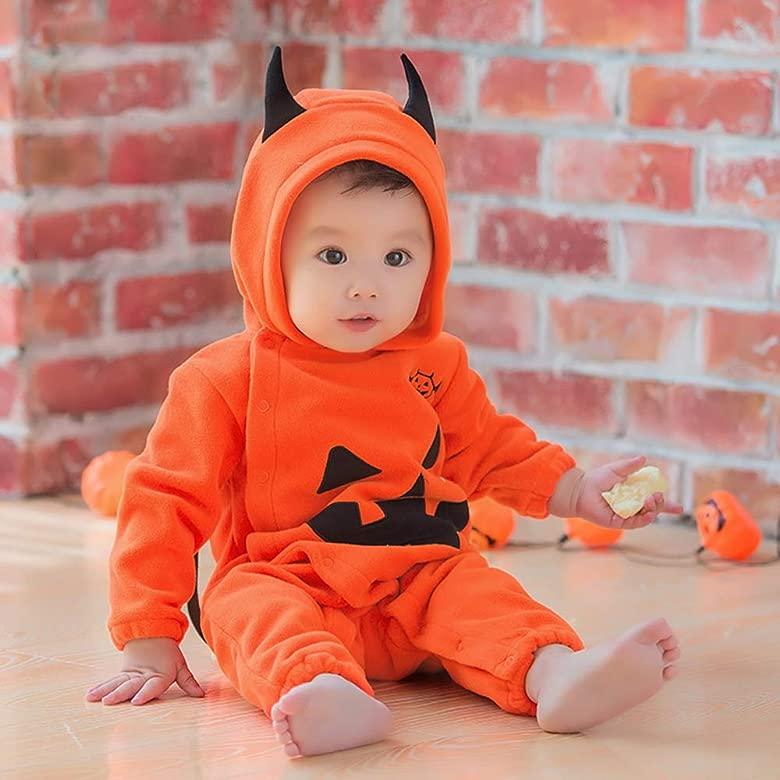 Huateng Disfraz de Halloween para bebé Cachorro de Calabaza ...