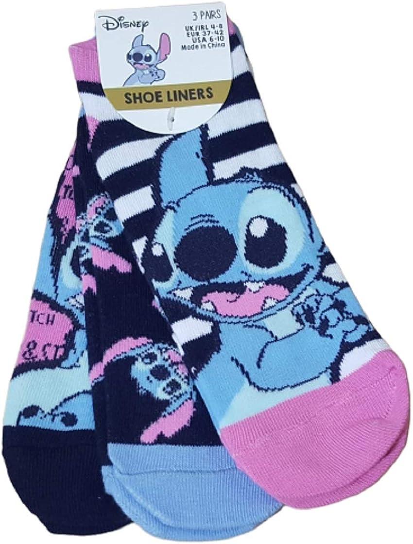 Official Disney STITCH FOOTLETS Slippers Women/'s Fleece Shoe Liners SOCKS Lilo