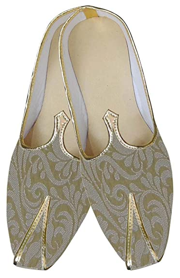 Mens Golden Traditional Wedding Shoes MJ0119