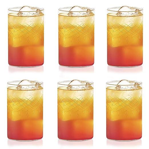 Borosil Vision Glasses Bracelet, 295 ml, Set of 6