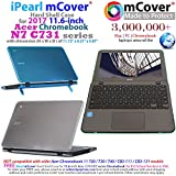 mCover iPearl Hard Shell Case for 11.6 Acer Chromebook 11 C731 Series Laptop (NOT Compatible with Older Acer 11 C720 / C730 / C740 / CB3-111 / CB3-131 Series Laptop) - C731 Aqua