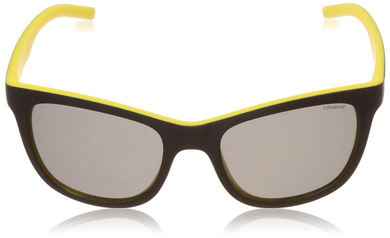 Polaroid PLD 7008/S AH ZAU, Occhiali da Sole Uomo, Nero (Black Yellow/Grey Pz), 54