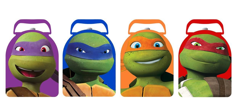 TMNT tortugas Ninja Arco forma Carry All Tin Box Set - 4 pc ...