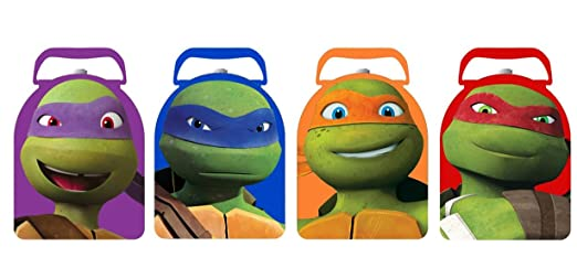 TMNT tortugas Ninja Arco forma Carry All Tin Box Set - 4 pc ...