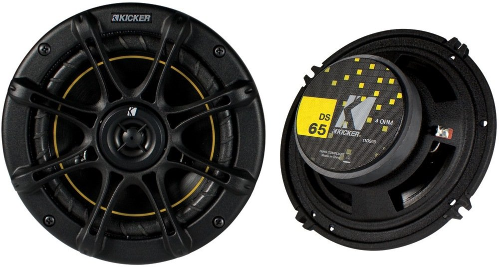 "Kicker DS65- 6.5"" Coaxial Speakers (Pair)"