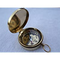 M.G.R Brass Pocket Compass with Magnetic Lid