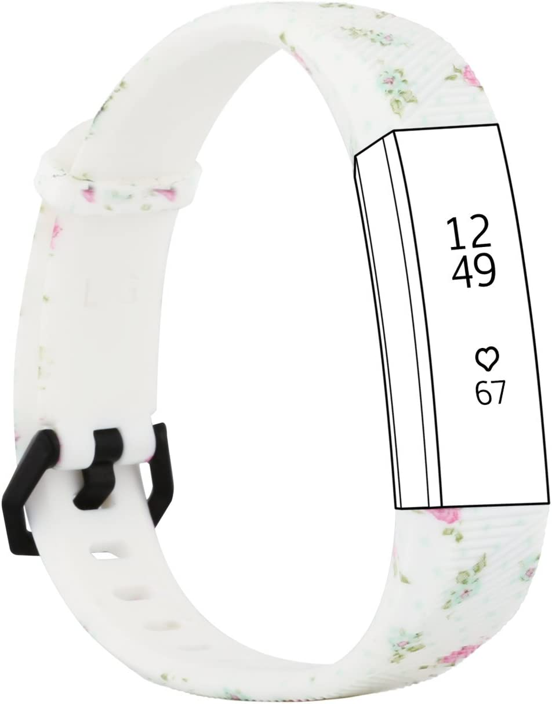 Fit-power Bracelet de remplacement en silicone pour montres Fitbit Alta HR et Alta avec fermoir en m/étal comprenant une protection d/écran gratuite