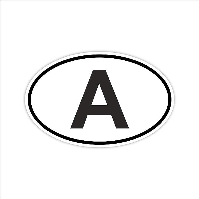 Easydruck24de Auto Aufkleber Länderkennzeichen Österreich I Sticker Weiß Schwarz I Kfz 220 I 14 5 X 9 Cm I Fan Artikel Produkt Flagge Fahne Fahrzeug Aufkleber Auto