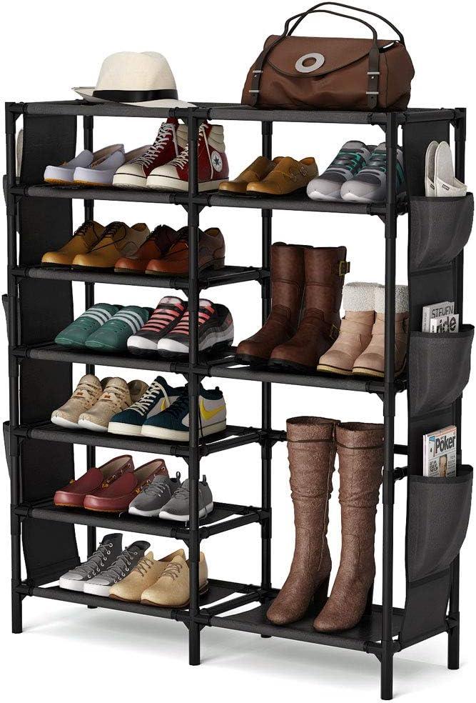 7 Níveis Sapateira 24 30 Pares De Sapato Organizador De Não Tecido Nos Prateleira De Sapato Ebay