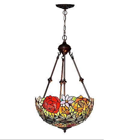 manchadas con lámparas de cristal de arte salón cocina ...
