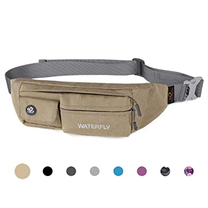 292382bb1eac Waterfly Fanny Pack Slim Soft Polyester Water Resistant Waist Bag for Man  Women Carrying iPhone Xs