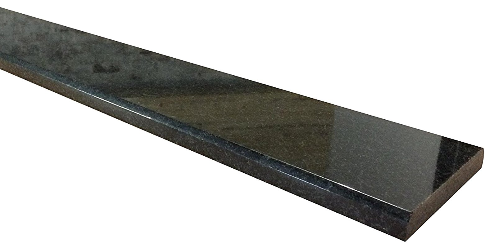 Vogue Tile Absolute Black Marble Granite Threshold (Marble Saddle) - Polished - (5'' x 36'')