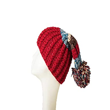 8aa19512db0 Duolaimi Hand-made Woven Wool Yarn Flanging Hat Parent-child Cap ...