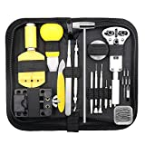 Watch Repair Tool Kit,147 Pcs Professional Spring Bar Tool Set, Case Opener Remover Watch Maintance Band Link Pin Tool Set with Carrying Case