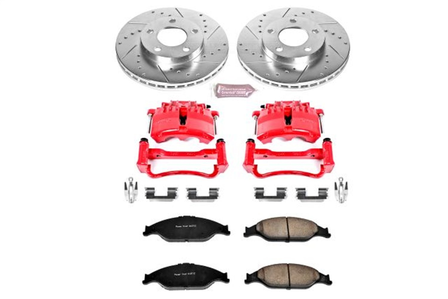 Front Only Power Stop KC1301A 1-Click Performance Brake Kit with Caliper