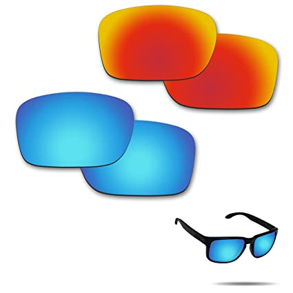 b91288535377e Amazon.com   Fiskr Anti-Saltwater Polarized Replacement Lenses for Oakley  Holbrook Sunglasses 2 Pairs Packed   Sports   Outdoors