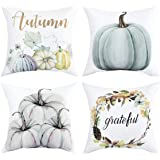 Autumn Decorations Pumpkin Throw Pillow Cover Cushion Couch Cover Pillow Cases Set of 4 for Autumn Halloween Thanksgiving Day