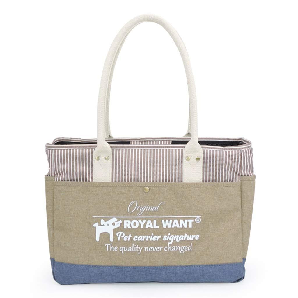 Pet Bag Portable Moda pieghevole Oxford Fabric Khaki cat Dog Handbag Travel Animals Products
