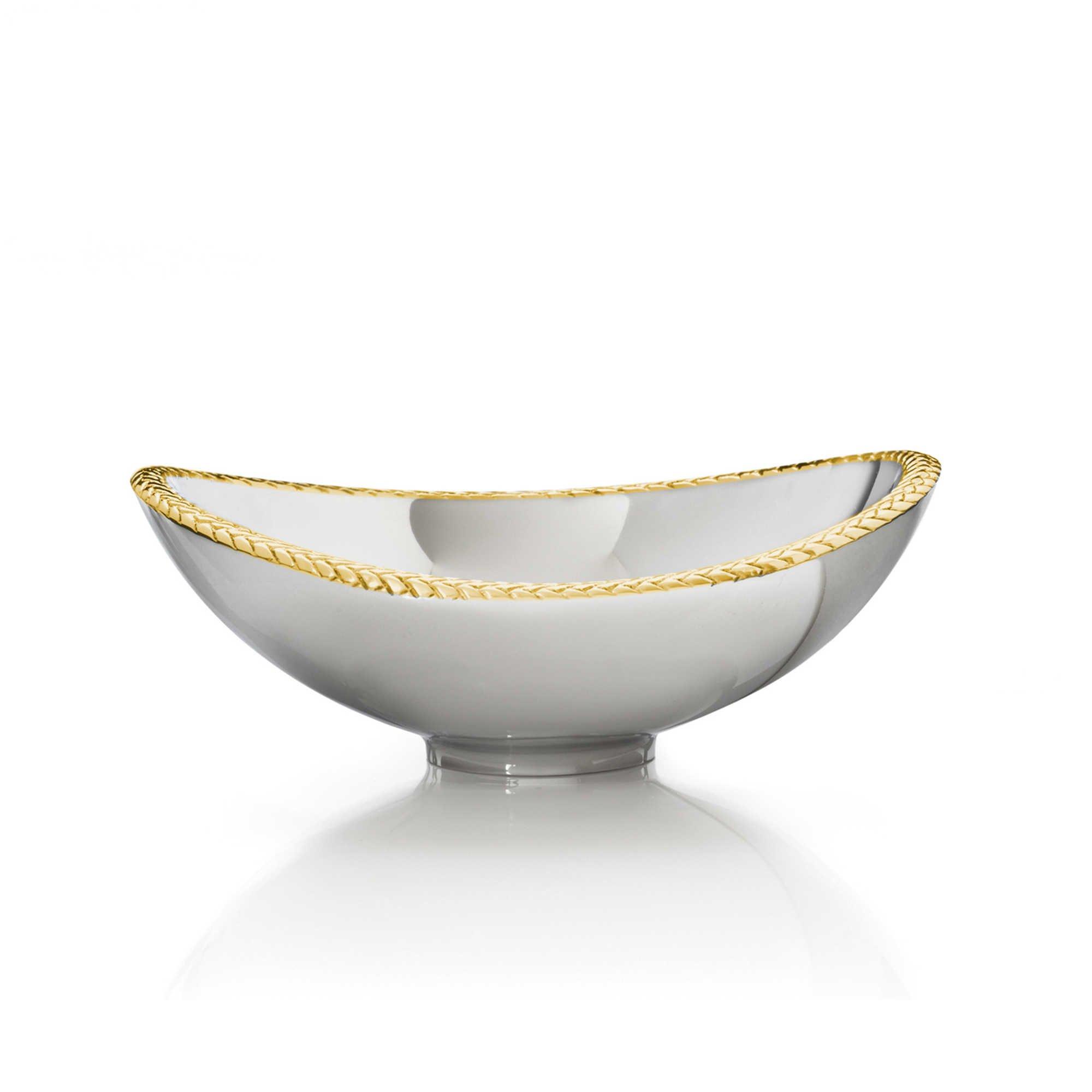Nambe Braid 6 Inch Gold Nut Bowl