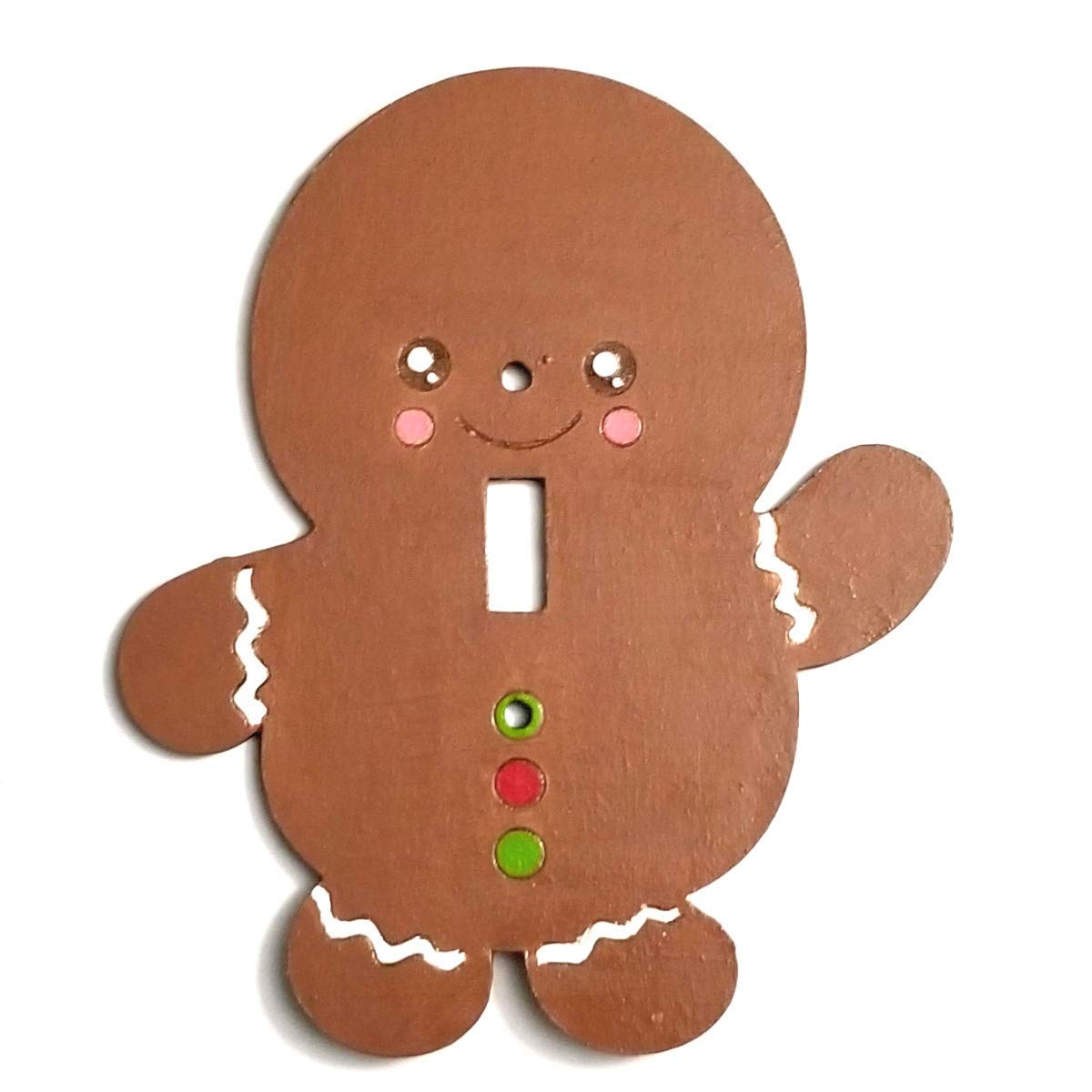 Amazon Com Gingerbread Cookie Light Switch Plate Cover Christmas Wall Decor Handmade