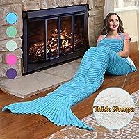 Catalonia Mermaid Tail Sherpa Blanket,Super Soft Warm...