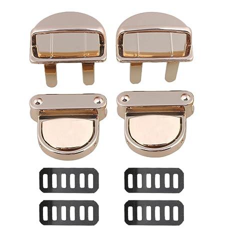 Luz dorada 31 x 24 x 30 mm hebillas de aleación de tamaño mediano monedero cierre