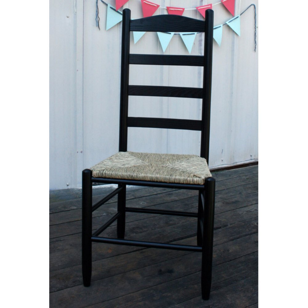 Woven Seat Ladderback Chair (Black)   Chairs