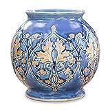 NOVICA Celadon Ceramic Vase, Blue 'Thai Sapphire'