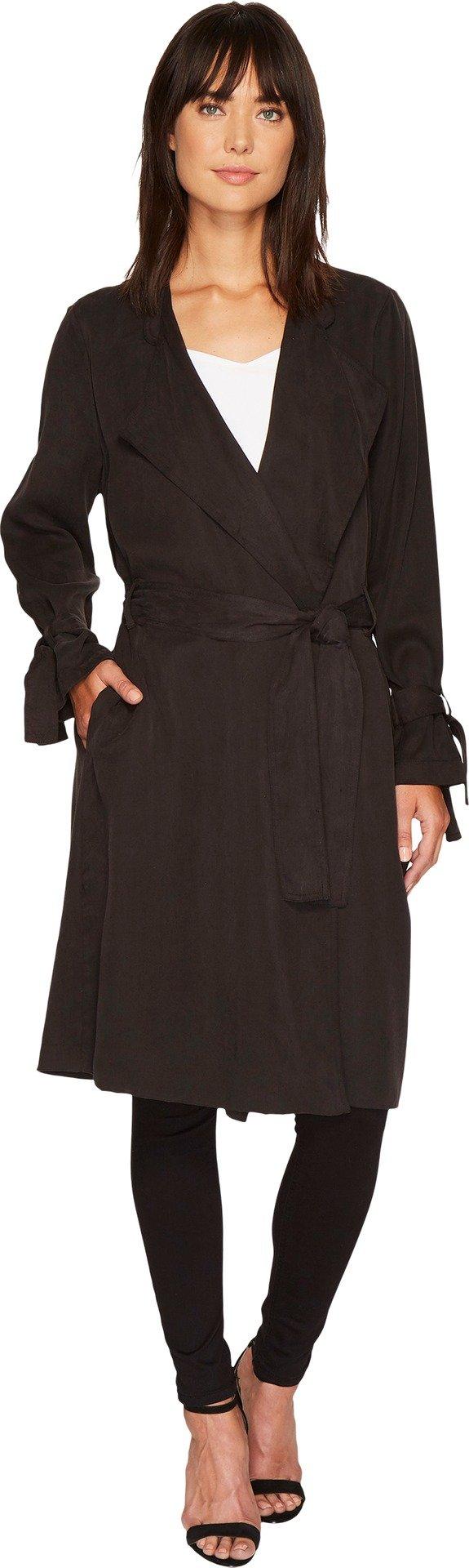 Splendid Women's Drape Trench Coat Black XS (Womens 0-2)