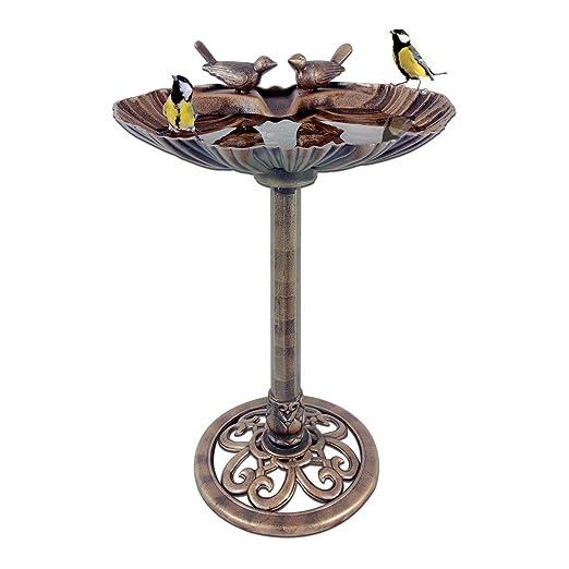 Vasche Da Giardino Plastica.Bpil Vasca Da Bagno Per Uccelli In Plastica Effetto Bronzo A Forma