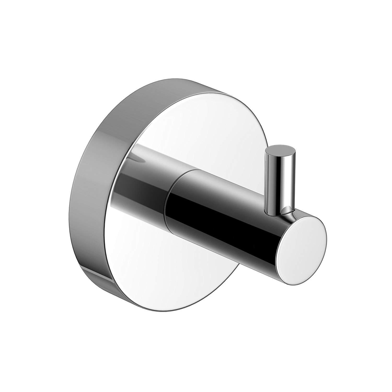 Soak Luxuriö ser Wandhaken fü r das Badezimmer - Badhaken fü r Handtü cher - verchromt, rund, einfache Montage HOOK1P-1680